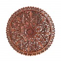 Round Wall Decoration Albesia Wood Sculpture