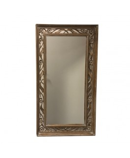 Big Mirror In Natural and White Albésia Wood
