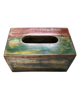 Recycled Pirogue Wood Tissue Box