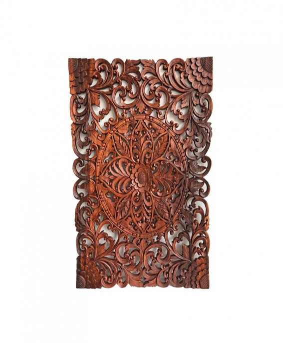 Rectangle Wall Decoration Carved in Albésia