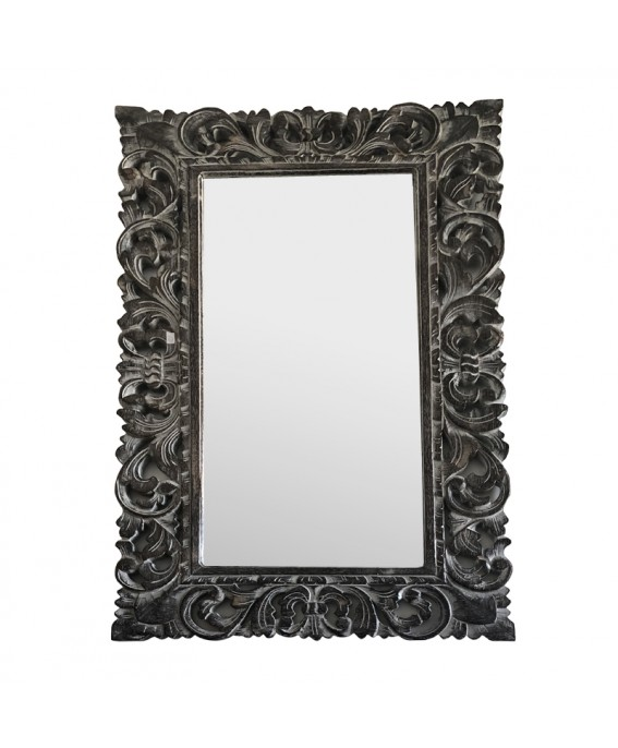 Grand Miroir Rectangle Finition Noir & Blanc