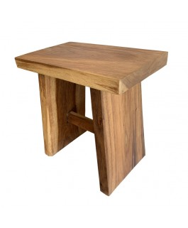 Straight Stool in Suar Wood Colorless Shade