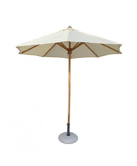 Parasol Design in Teak Wood and White Fabric