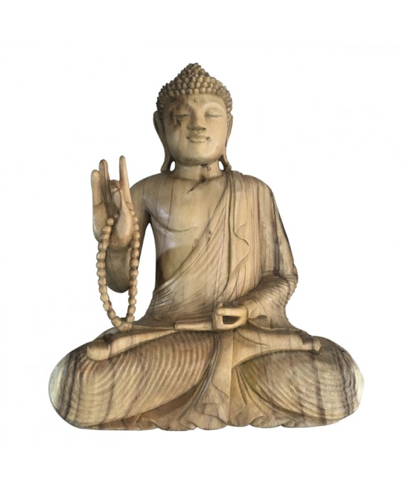 Statue of the RANTAI Buddha in Exotic Wood