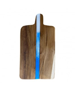 Charcuterie Board in Suar and Blue and White Resin